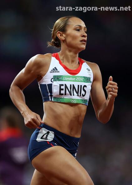 """Jessica Ennis ชนะการโหวด บอกว่าเธอรู้สึกว่า """"รู้สึกเป็นเกียรติและภาคภูมิใจ"""" หลังจากประสบความสำเร็จในการแข่งขันกีฬาโอลิมปิก 2012"""