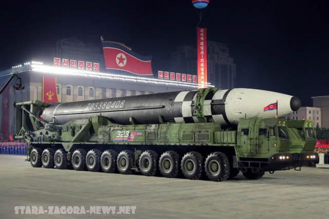 ปท.เกาหลีเหนือ เปิดตัวขีปนาวุธลูกใหม่ เกาหลีเหนือได้เปิดตัวขีปนาวุธลูกใหม่ที่มีขนาด มหึมาทำให้นักวิเคราะห์คลังแสงของประเทศต้องประหลาดใจ